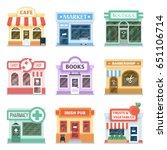 shop front design ideas... | Shutterstock .eps vector #651106714