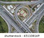 road traffic in city at... | Shutterstock . vector #651108169