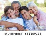 kids with grandparents    Shutterstock . vector #651109195