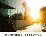 skyscraper glass facades on a... | Shutterstock . vector #651114499