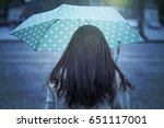 Woman With Umbrella In Tokyo