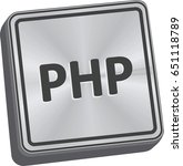 php button 3d key in brushed... | Shutterstock .eps vector #651118789
