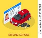 design concept driving school... | Shutterstock .eps vector #651120301