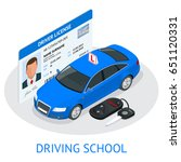 design concept driving school... | Shutterstock .eps vector #651120331