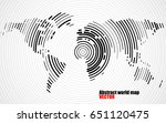 abstract world map of radial... | Shutterstock .eps vector #651120475