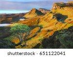 quiraing isle of skye  scotland ...   Shutterstock . vector #651122041