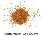 instant coffee powder isolated
