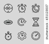 hour icons set. set of 9 hour... | Shutterstock .eps vector #651123037