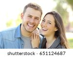 front view of a couple posing... | Shutterstock . vector #651124687