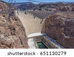 hoover dam viewed from the... | Shutterstock . vector #651130279