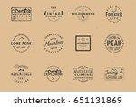 outdoor wilderness logos ... | Shutterstock .eps vector #651131869