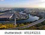 aerial view of moscow suburbs | Shutterstock . vector #651141211