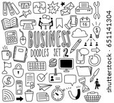 hand drawn business doodles 2 | Shutterstock .eps vector #651141304