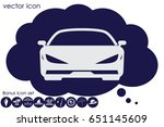 car icon vector illustration...   Shutterstock .eps vector #651145609