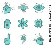 artificial intelligence icons... | Shutterstock .eps vector #651151471
