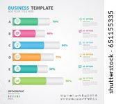 infographics elements diagram... | Shutterstock .eps vector #651155335