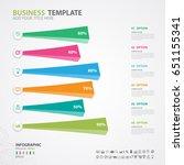 infographics elements diagram... | Shutterstock .eps vector #651155341