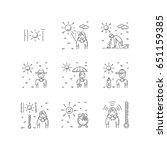 vector linear illustration of... | Shutterstock .eps vector #651159385