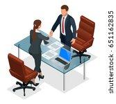Businesspeople Handshaking...