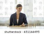 businesswoman preventing... | Shutterstock . vector #651166495
