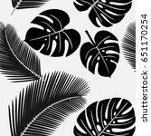 black and white pattern.... | Shutterstock .eps vector #651170254