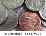 a close shot of a random heap... | Shutterstock . vector #651179179