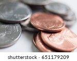 a close shot of a random heap... | Shutterstock . vector #651179209
