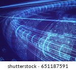 3d illustration  abstract... | Shutterstock . vector #651187591