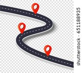 winding road isolated on a... | Shutterstock .eps vector #651188935