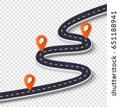 winding road isolated on a... | Shutterstock .eps vector #651188941