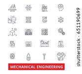 mechanical engineering ... | Shutterstock .eps vector #651190699