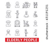 elderly people  care  elderly... | Shutterstock .eps vector #651191251