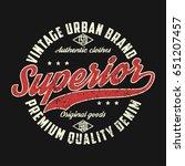 superior denim  vintage urban...   Shutterstock .eps vector #651207457