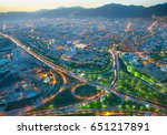 skyline of tehran at beautiful... | Shutterstock . vector #651217891