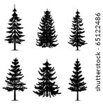 pine trees collection | Shutterstock . vector #65122486