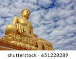 buddha statue on background | Shutterstock . vector #651228289