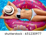 summer vacation. enjoying... | Shutterstock . vector #651230977