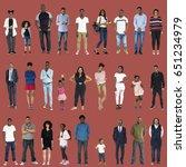 various of diversity people... | Shutterstock . vector #651234979