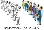 a group of people waiting in...   Shutterstock .eps vector #651236377