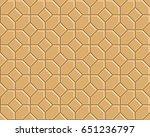 3d yellow brick pathway pattern | Shutterstock .eps vector #651236797