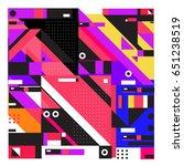 trendy geometric elements... | Shutterstock .eps vector #651238519