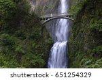 multnomah falls and foot bridge ...   Shutterstock . vector #651254329