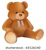 vector cute teddy bear on white ... | Shutterstock .eps vector #65126140