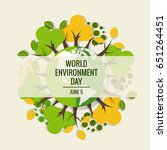 world environment day concept.... | Shutterstock .eps vector #651264451