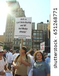 Small photo of NEW YORK CITY, USA - JULY 17, 2012: The Utility Workers Union of America rally in Union Square, Manhattan which was organized by the state AFL-CIO and NYC Central Labor Council.