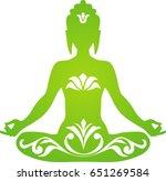 green buddha | Shutterstock .eps vector #651269584