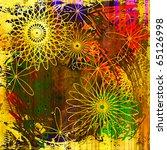 art floral ornament grunge... | Shutterstock . vector #65126998