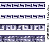 greek key seamless border... | Shutterstock .eps vector #651272017