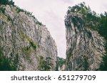 beautiful mountain gorge | Shutterstock . vector #651279709