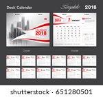 Set Desk Calendar 2018 Templat...